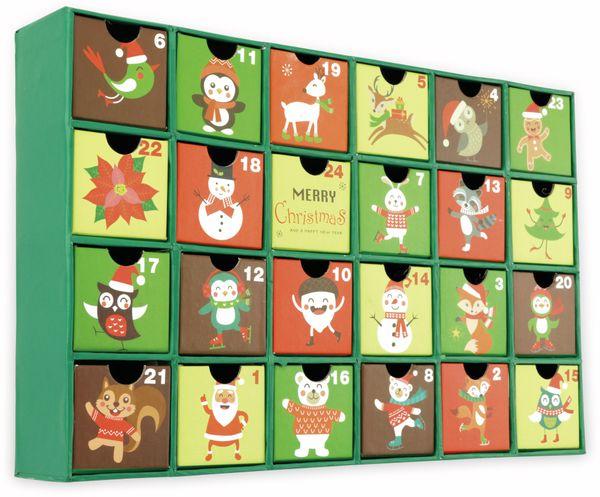 Adventskalender, 390x250x65 mm, grün