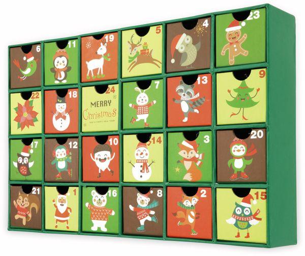 Adventskalender, 390x250x65 mm, grün - Produktbild 3