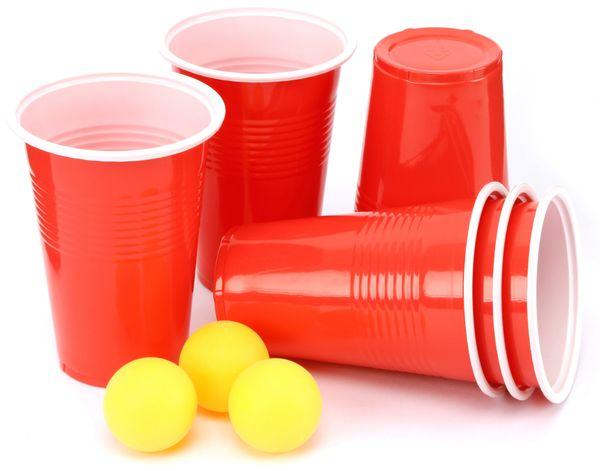 Bier Pong Spiel, 6 Becher, 3 Bälle - Produktbild 1