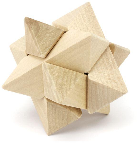 Denkspiele aus Holz und Metall, 8 Spiele, 5 Schwierigkeitsstufen - Produktbild 2