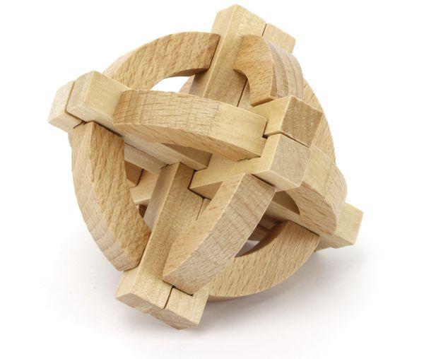 Denkspiele aus Holz und Metall, 8 Spiele, 5 Schwierigkeitsstufen - Produktbild 3