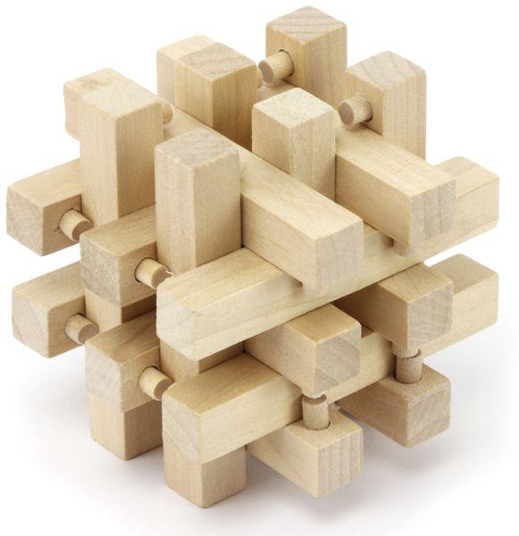 Denkspiele aus Holz und Metall, 8 Spiele, 5 Schwierigkeitsstufen - Produktbild 4