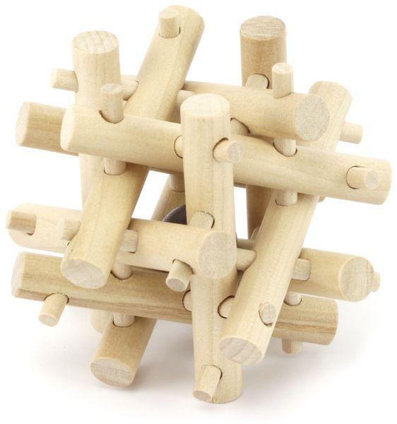 Denkspiele aus Holz und Metall, 8 Spiele, 5 Schwierigkeitsstufen - Produktbild 5