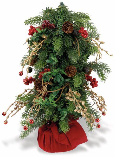 Weihnachtsbaum in rotem Sack