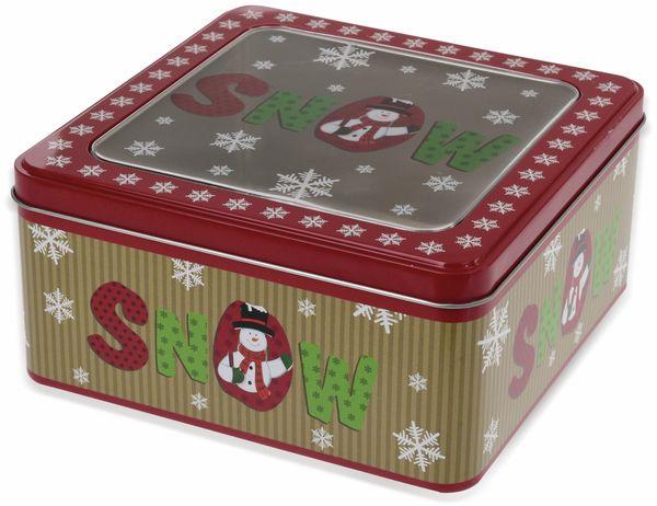 Keksdose Weihnachten, mit Klarsichtdeckel, 17x17 cm