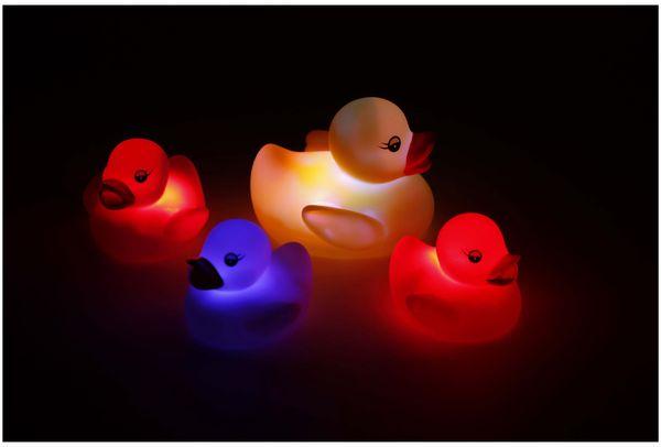LED Entenfamilie 4er Set farbig, Badewannenspaß - Produktbild 2