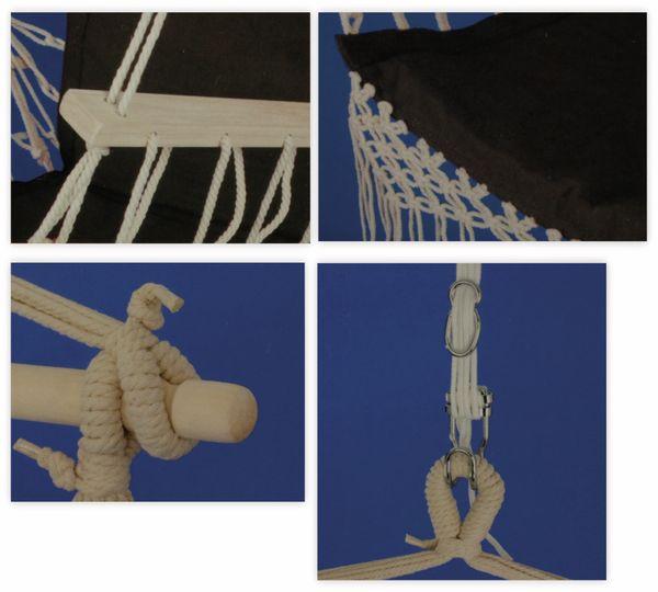 Hängesessel, 50x100 cm, anthrazit, 110Kg - Produktbild 2