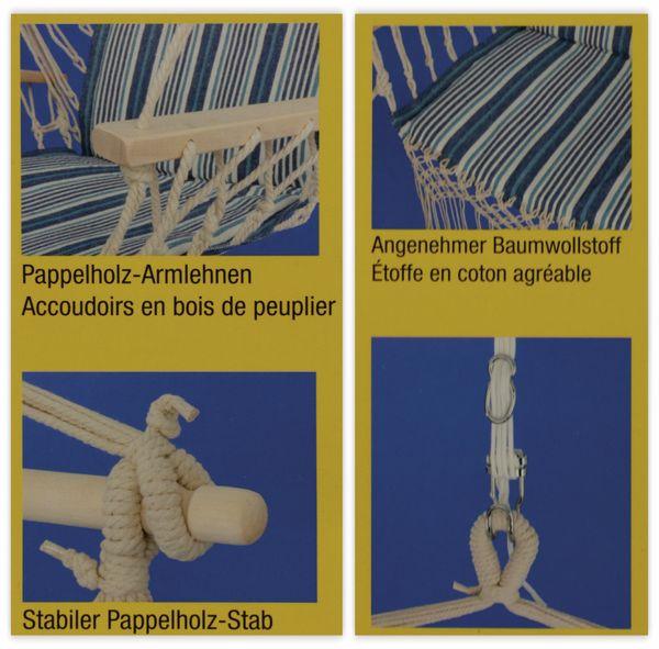 Hängesessel, 50x100 cm, beige, blau-weiß gestreift, 110Kg - Produktbild 2