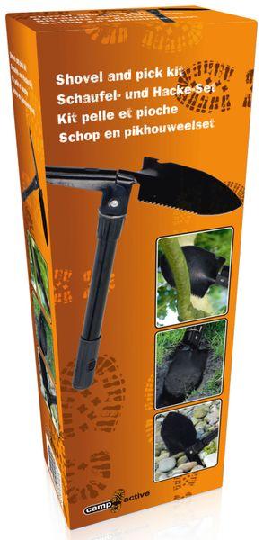Klappspaten, 280 mm, schwarz - Produktbild 2
