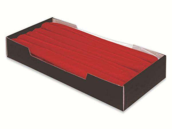 Tafelkerzen WIEDEMANN, Rot, 12 Stück, 250/25 mm