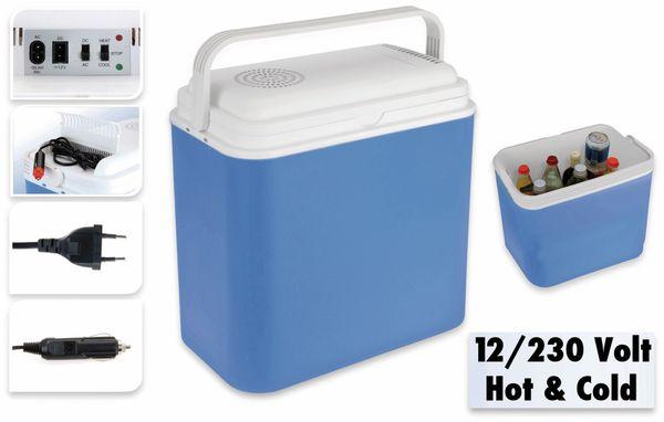 Kühlbox, 24l, 12V-/240V~, Blau, für Warm/Kalt - Produktbild 2