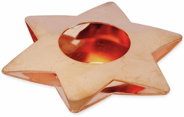 Teelichthalter Stern, 10,8 cm, Kupfer