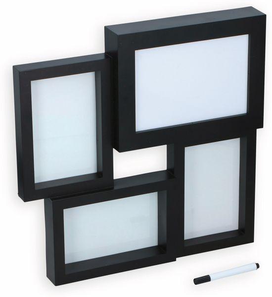 GRUNDIG 3-fach Bilderrahmen mit Leuchtkasten für Beschriftung