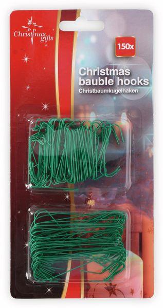 Weihnachtskugelhaken, 150 Stück, grün