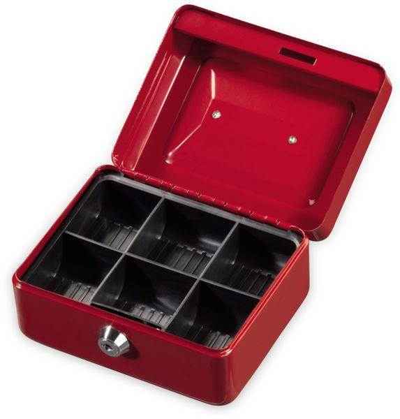 Geldkassette HAMA 50523 KC-150D, 150x120x80 mm, rot - Produktbild 2