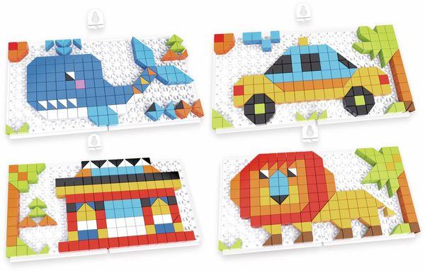 Bauklötze-Puzzle-Set, Blauwal, 4 in 1, 248-teilig.