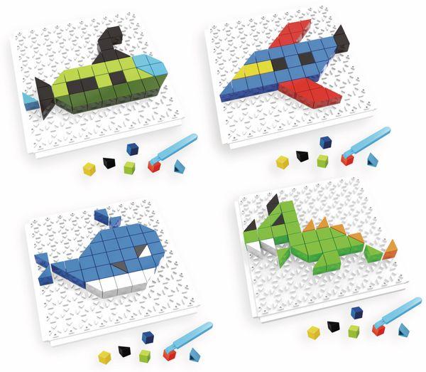Bauklötze-Puzzle-Set, Drache, 4 in 1, 59-teilig.