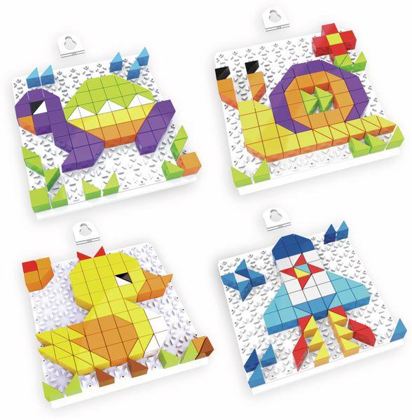 Bauklötze-Puzzle-Set, Schildkröte, 4 in 1, 128-teilig.