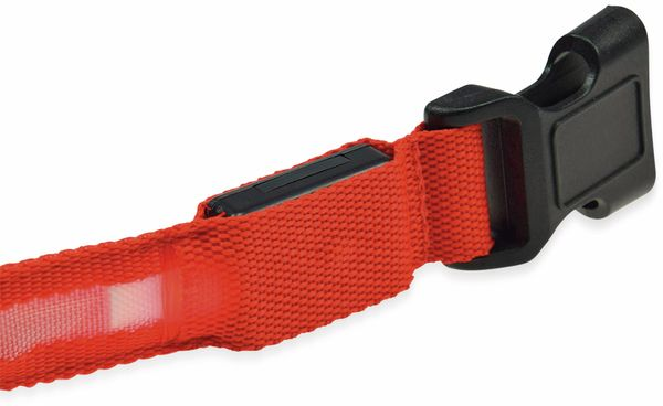 Hunde-Halsband CHILITEC, Größe L, rot, mit LED-Licht - Produktbild 4