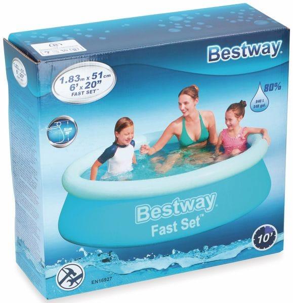 Planschbecken BESTWAY Fast Set Pool, 183x51cm, PVC - Produktbild 6