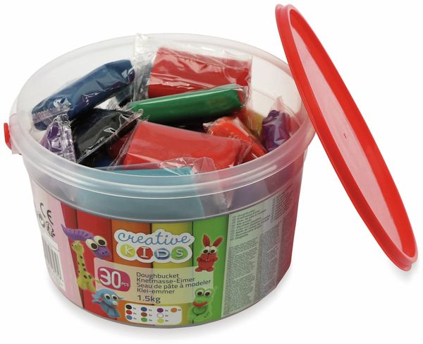 Kinder-Knetmasse-Eimer, 1,5 kg, 30 Knetmasse-Stücke