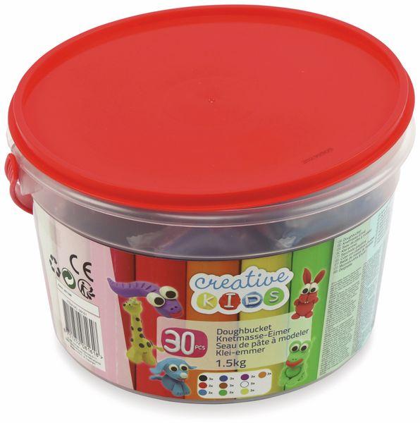 Kinder-Knetmasse-Eimer, 1,5 kg, 30 Knetmasse-Stücke - Produktbild 2