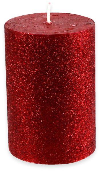 6er-Set, Stumpenkerzen, WIEDEMANN Glitter, altrot, 68x100 mm