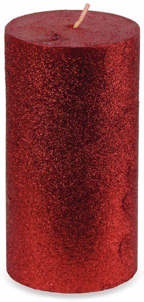 6er-Set, Stumpenkerzen, WIEDEMANN Glitter, rot, 68x130 mm - Produktbild 2