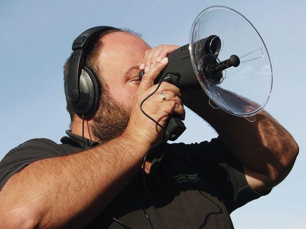 Parabol-Richtmikrofon CHILITEC PRM-1, mit Kopfhörer und Aufnahmefunktion - Produktbild 2