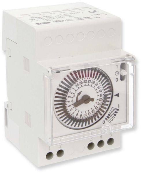 Zeitschaltuhr für DIN-Schiene, 1-Kanal, analog