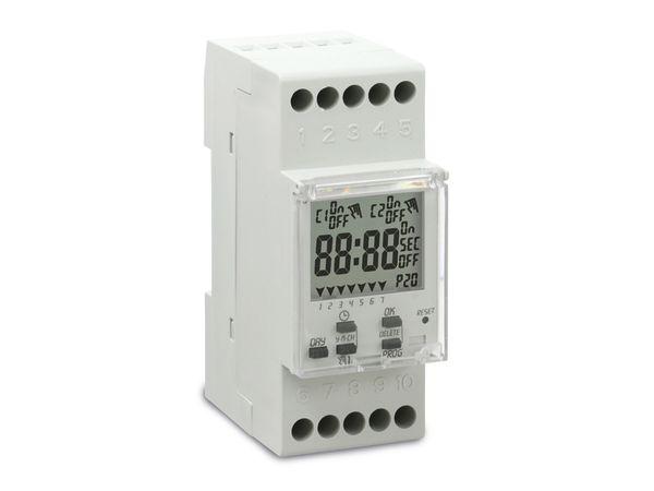 Digitale Zeitschaltuhr PERRY 1IO 7081, für DIN-Schiene