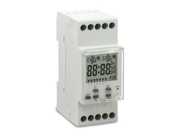 Digitale Zeitschaltuhr PERRY CPU 35wu-LCD, für DIN-Schiene - Produktbild 1