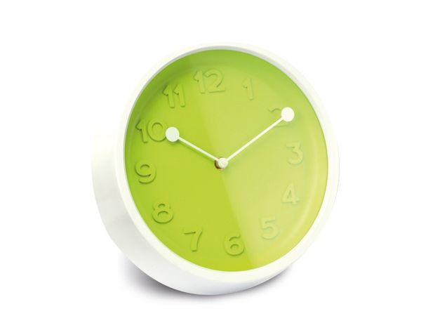 Wanduhr 3D, 27 cm, grün