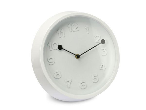 Wanduhr 3D, 27 cm, weiß