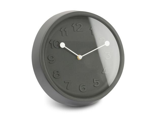 Wanduhr 3D, 27 cm, schwarz - Produktbild 1