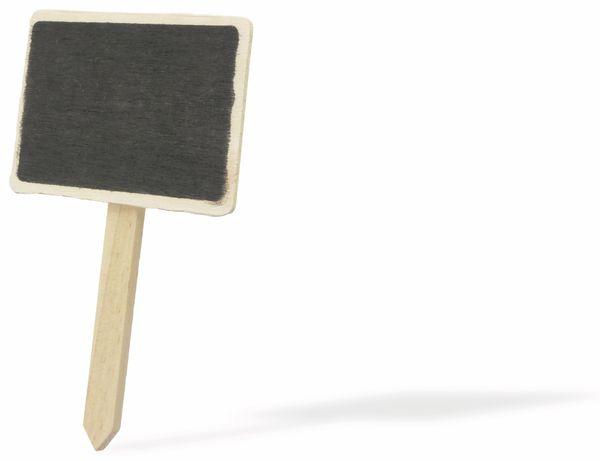 Pflanzentafel mit Stab, 70x50x120 mm aus Holz - Produktbild 1