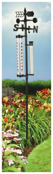 Garten-Thermometer KINZO, 150x24x10 cm, Regenmesser