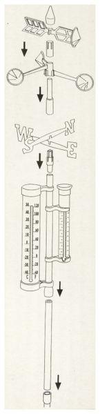 Garten-Thermometer KINZO, 150x24x10 cm, Regenmesser - Produktbild 2