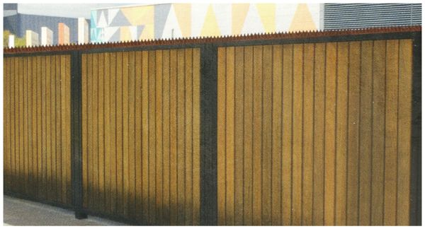 KINZO Zaunspitzen, 50x4,5x1,7 cm braun, 10 Stück - Produktbild 3