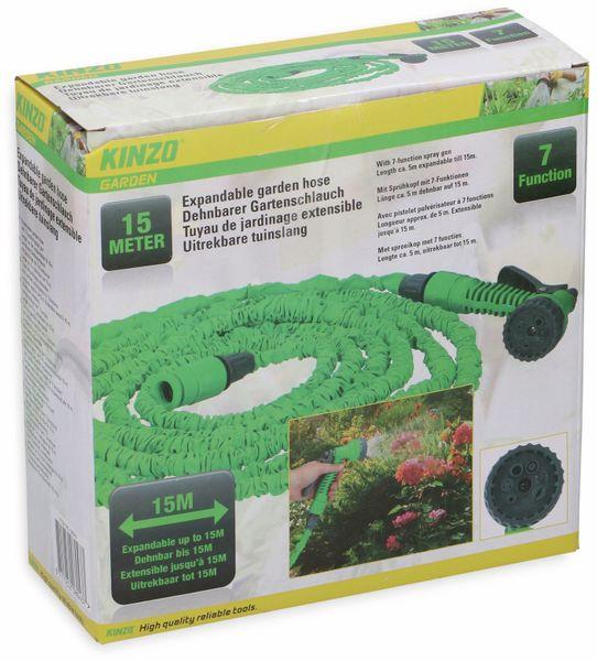 Gartenschlauch mit Sprühkopf KINZO, dehnbar - Produktbild 2