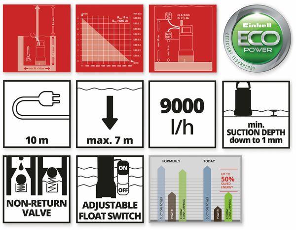 Klarwasserpumpe EINHELL GE-SP 4390 LL ECO, 430 W - Produktbild 7