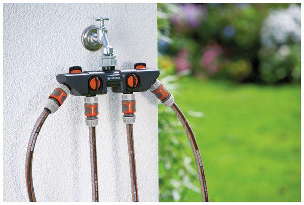 """4-Wege-Verteiler GARDENA 8194-20, 33,3 mm (G 1""""), 26,5 mm (G 3/4"""") - Produktbild 2"""