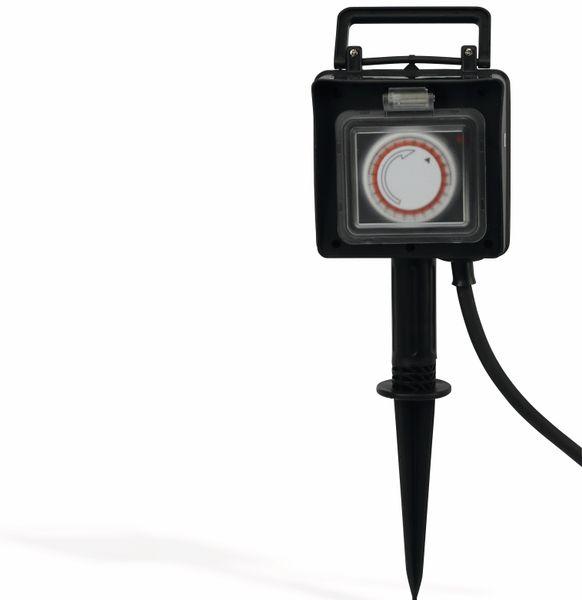 2-Gartensteckdose Filmer mit Erdspieß, und 24h Zeitschaltuhr - Produktbild 2