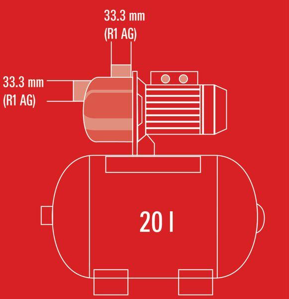 Hauswasserwerk EINHELL GC-WW 6538, 650 W - Produktbild 7