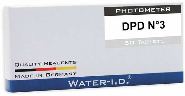 Tabletten WATER-ID DPD N°3 für PoolLab, 50 Stück