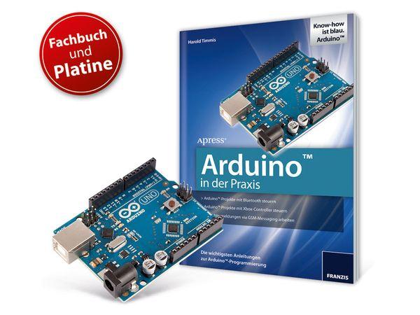 """Buch """"Arduino in der Praxis"""" + UNO-Platine"""