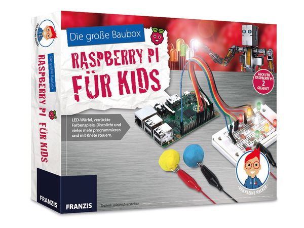 Baubox FRANZIS Raspberry PI für Kids