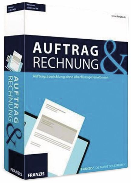 "Software FRANZIS ""Auftrag & Rechnung"" - Produktbild 1"