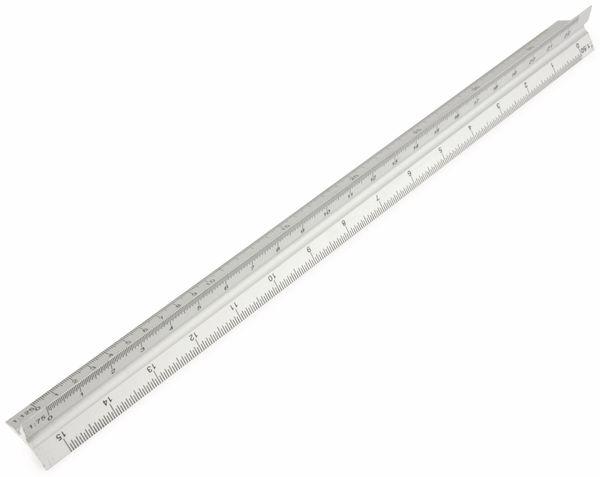 Aluminium-Dreikantmaßstab, 300 mm - Produktbild 1
