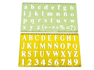Buchstabenschablonen-Set